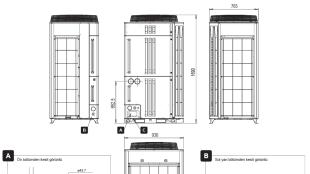 Fujitsu VRF Plus İç Ünite Boyutları