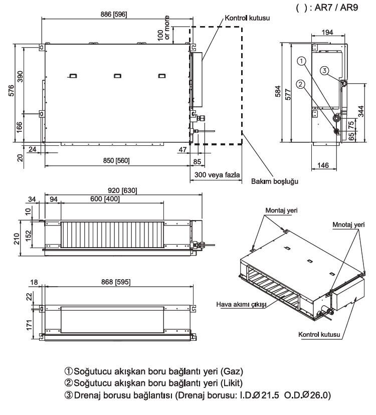 fujitsu_vrf_j_serisi_kanal_tipi_kompakt_ic_unite_boyutlari